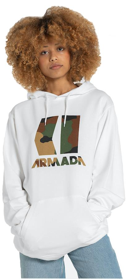 Armada Icon Pullover Snowboard/Ski Hoodie, S White