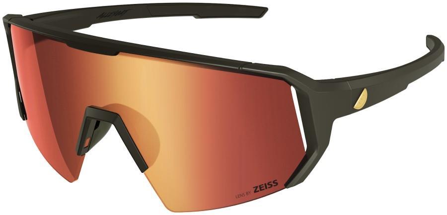 Melon Adult Unisex Alleycat Red Chrome Performance Sunglasses, M/L Black/Gold
