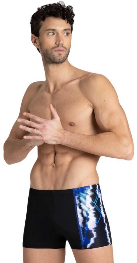 arena Infinite Stripe Men's Swim Trunks/Shorts, UK 30 Black/Blue