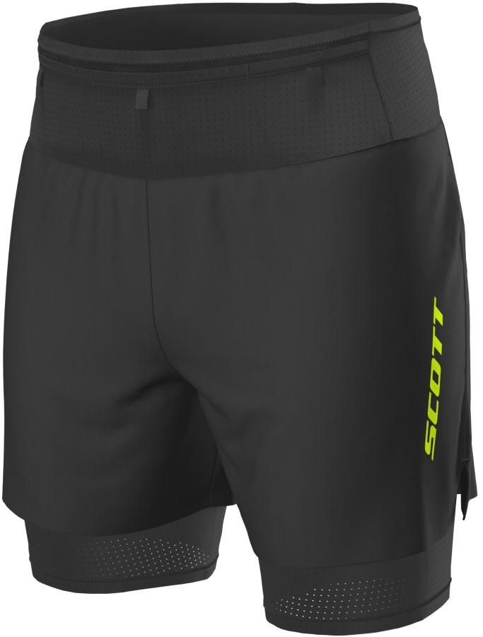 Scott RC Run Hybrid Running Shorts, L Black/Yellow