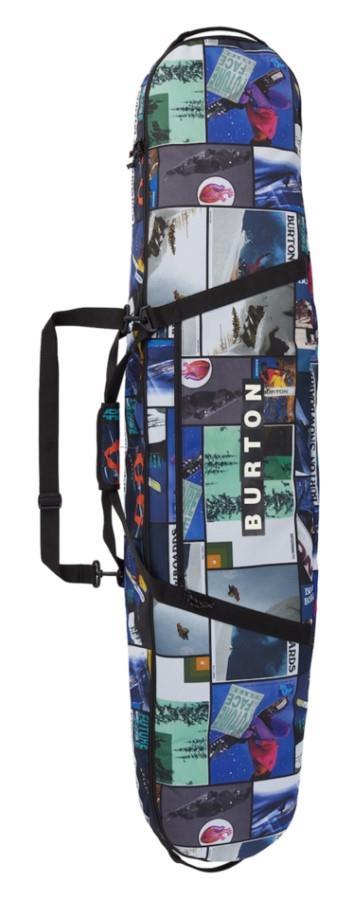 Burton Board Sack Snowboard Bag, 181cm Catalog Collage Print
