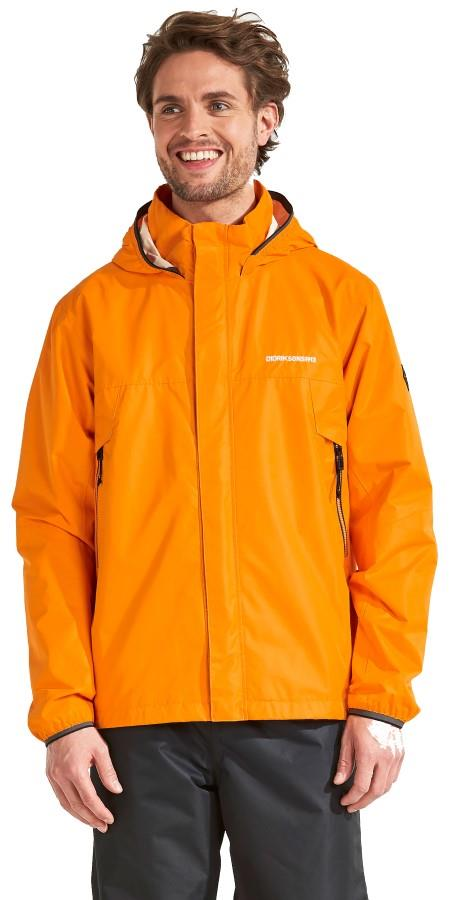Didriksons Vivid Waterproof Shell Jacket, M Bright Orange