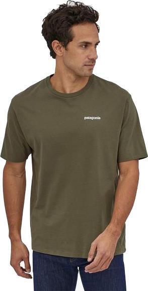 Patagonia P-6 Logo Organic T-Shirt, S Basin Green
