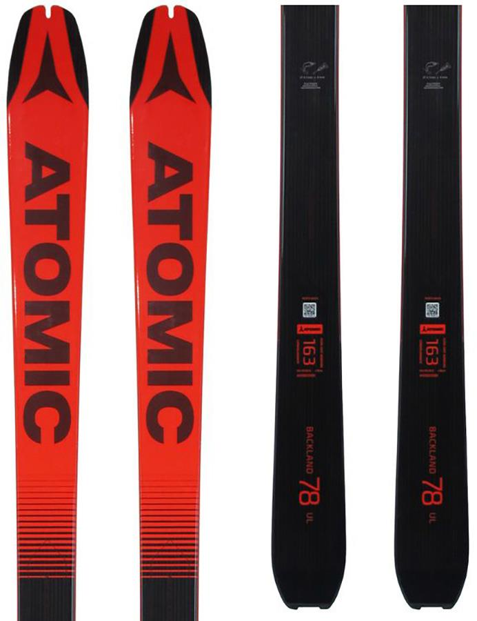Atomic Backland 78 UL Ex Display Skis, 169cm Black/Red