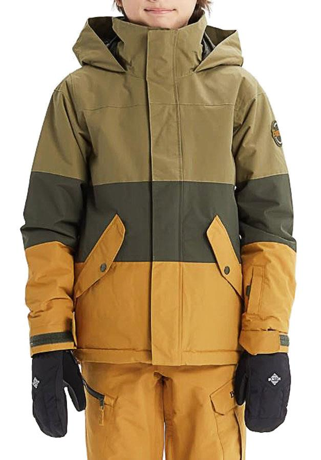 Burton Symbol Boy's Snowboard/Ski Jacket Boys M Martini Olive Multi