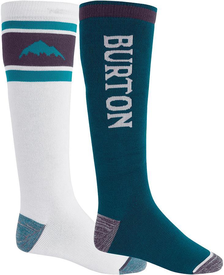 Burton Adult Unisex Weekend Mw 2pk Ski Socks, L Stout White/Dynasty Green