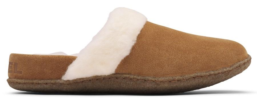 Sorel Nakiska II Women's Slippers, UK 3 Camel Brown