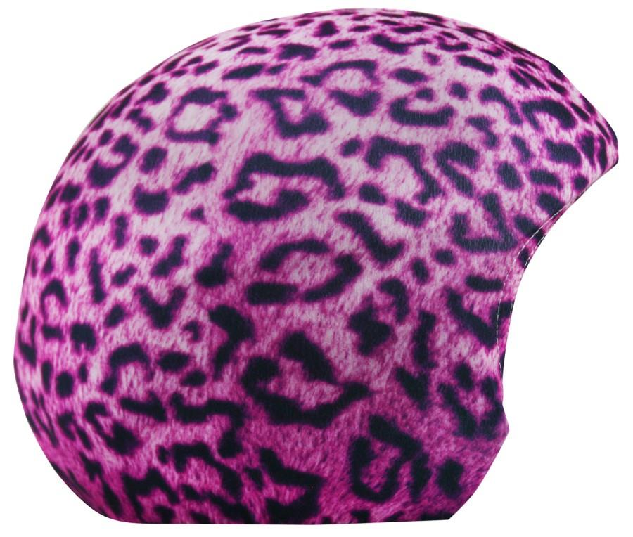 Coolcasc Printed Cool Ski/Snowboard Helmet Cover Pink Leopard
