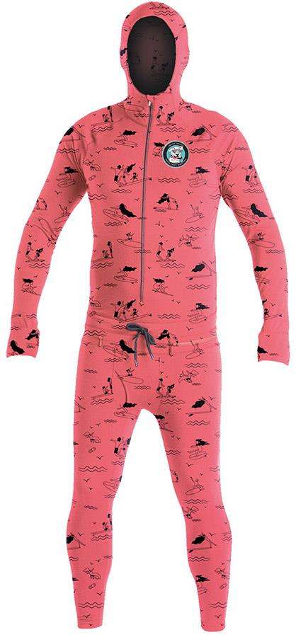 Airblaster Classic Ninja Suit Thermal Base Layer, M Hot Coral