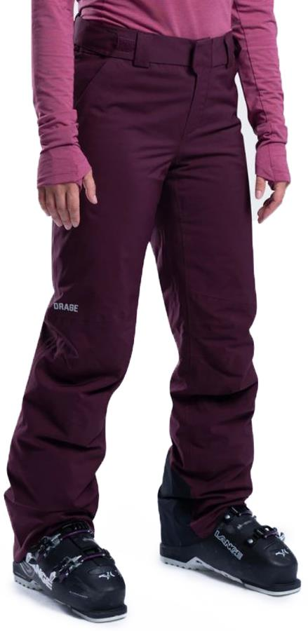 Orage Chica Women's Ski/Snowboard Pants, S Cranberry