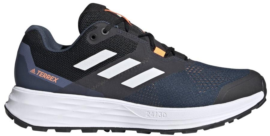 Adidas Terrex Two Flow Trail Running Shoes, UK 10.5 Crew Navy