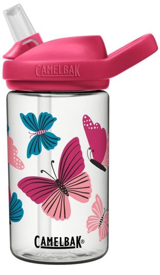 Camelbak Eddy+ Kids Water Bottle, 0.4L Colourblock Butterflies