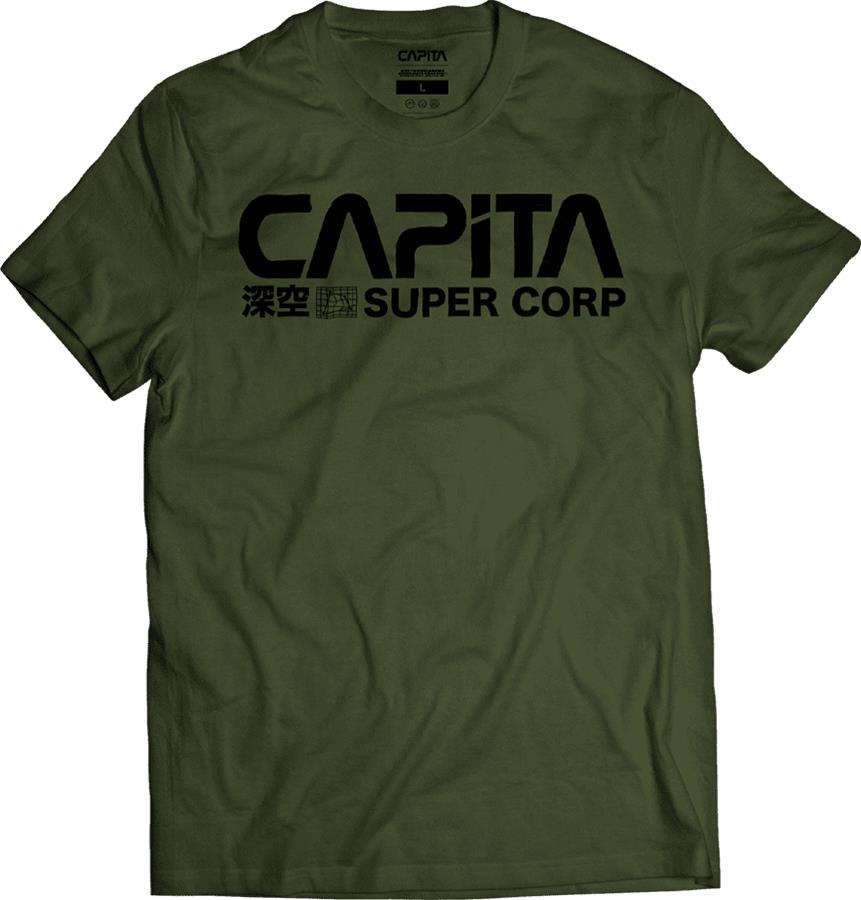 Capita Deep Space Cotton Short Sleeve T-Shirt, S Olive