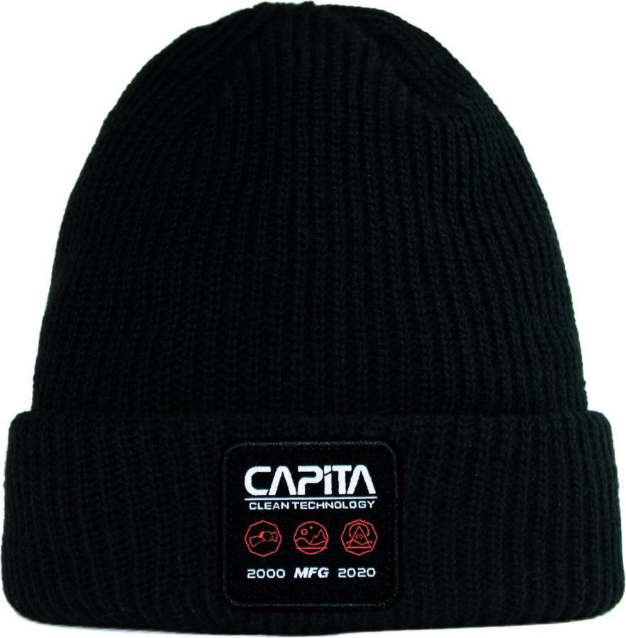 Capita Clean Tech Beanie Snowboard/Ski Hat, One Size Black