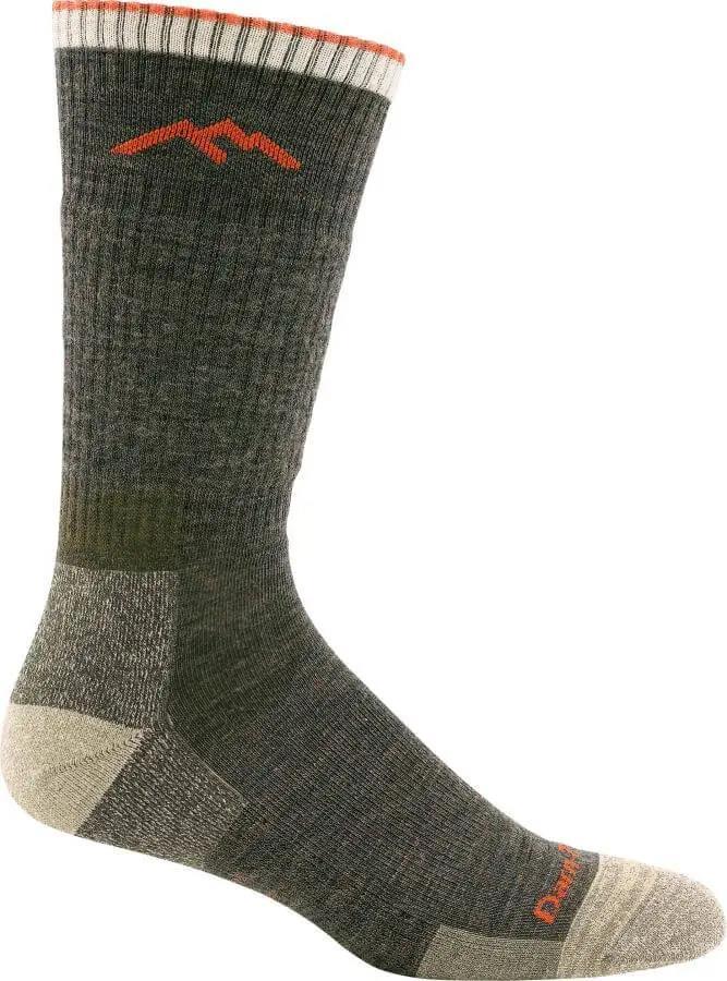 Darn Tough Hiker Boot Midweight Men's Hiking Socks, L Olive