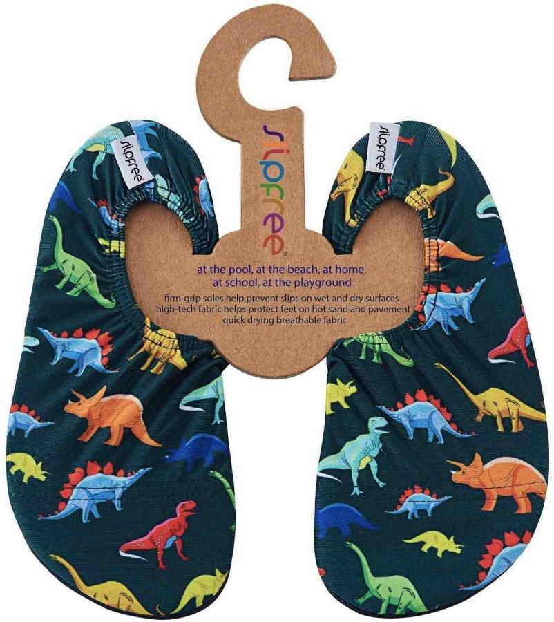 Slipfree Kids Non Slip Water Shoes, UK Infant 7-9 Dino