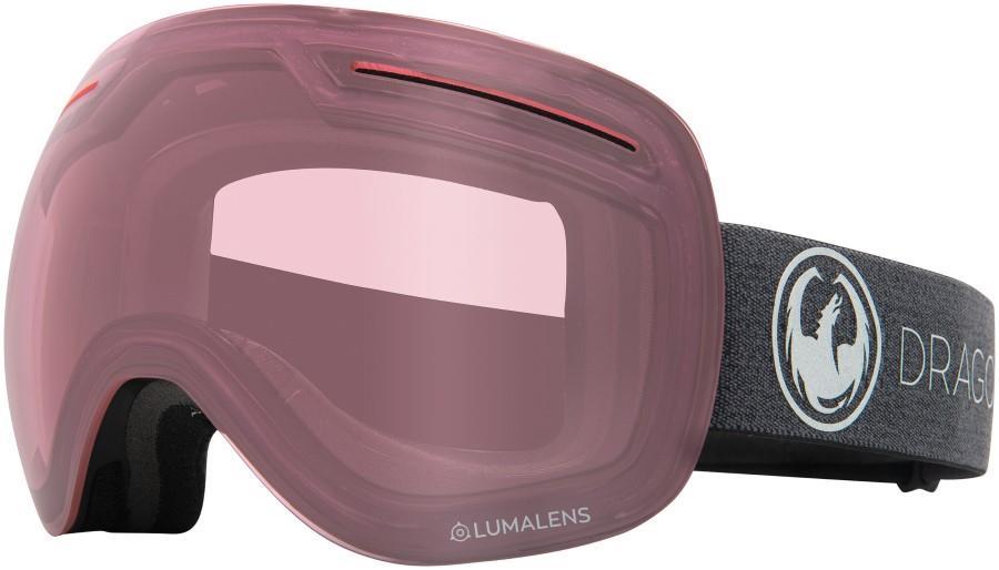Dragon X1 Photochromic Light Rose Snowboard/Ski Goggles, L Echo