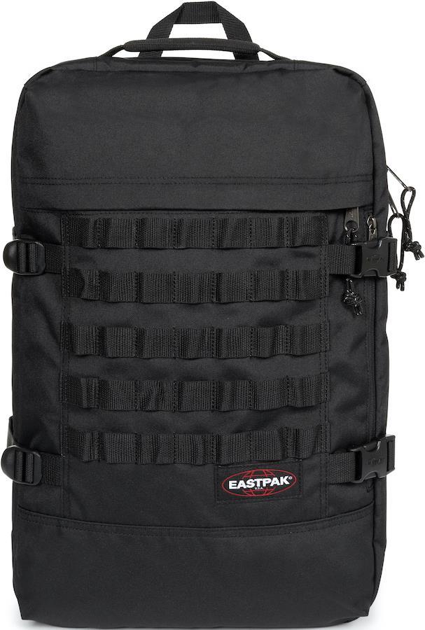 Eastpak Tranzpack Travel Duffle Bag/Backpack, 42L Strapped Black