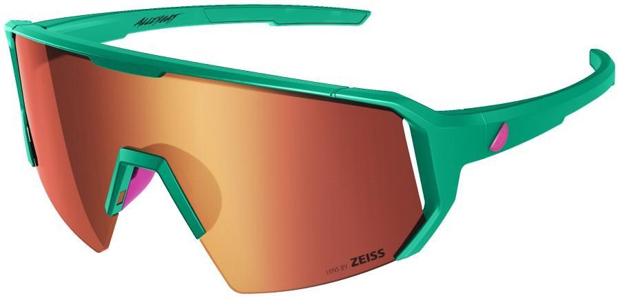 Melon Adult Unisex Alleycat Red Chrome Performance Sunglasses, M/L Emerald/Pink