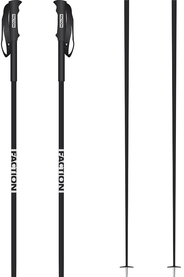 Faction FACTION Pair Of Ski Poles, 125cm Black