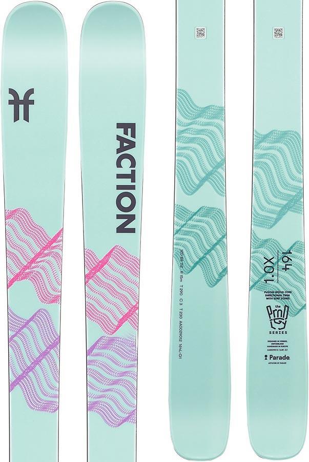 Faction Prodigy 1.0 X Ski Only Women's Skis, 164cm White/Pink 2022