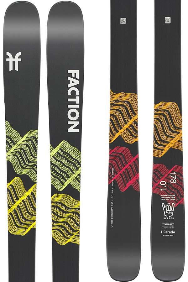 Faction Prodigy 1.0 Ski Only Skis, 171cm Black 2022