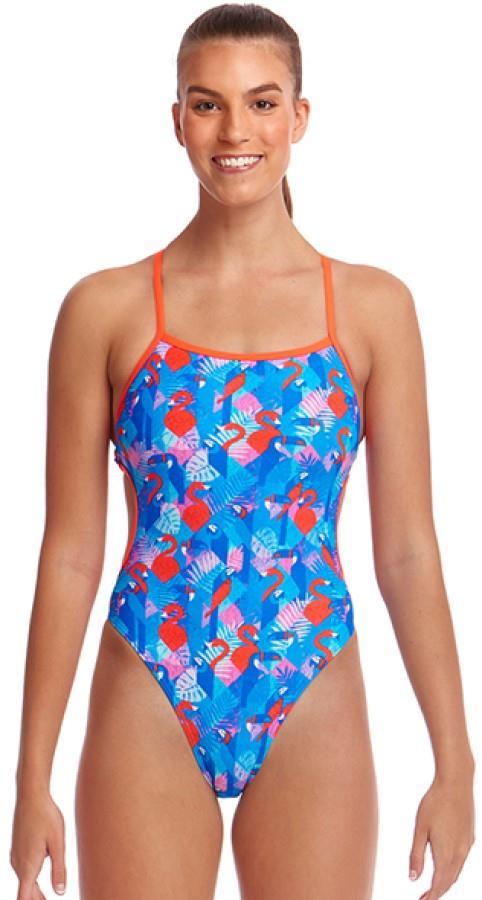Funkita Cut Away Women's One-Piece Swimsuit, UK 10 Flaming Vegas
