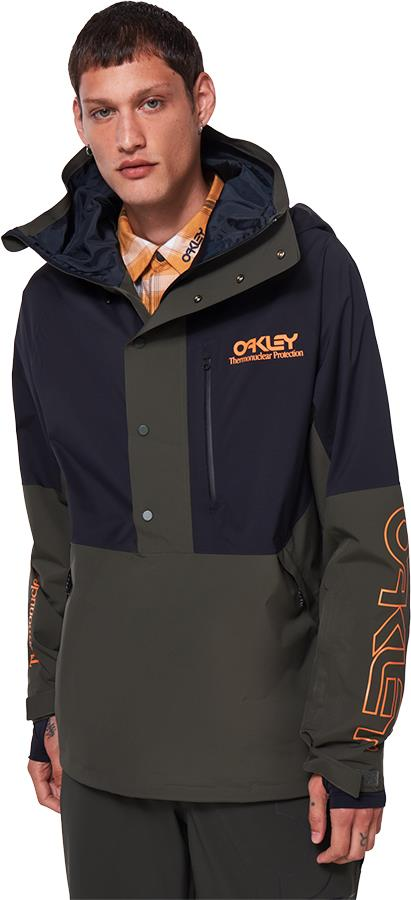 Oakley TNP Lined Shell Men's Snowboard/Ski Jacket, L Black/Green