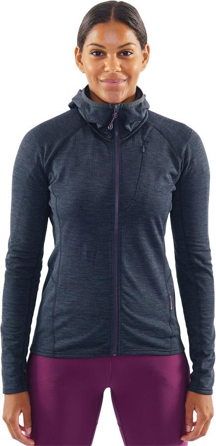 Montane Protium Women's Full-Zip Fleece Hoodie, UK 14 Charcoal