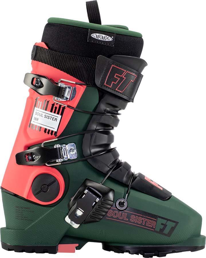 Full Tilt Soul Sister 100 Gripwalk Women's Ski Boots, 25/25.5 Green 2022