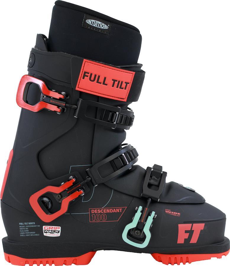 Full Tilt Descendant 100 Grip Walk Ski Boots, 28/28.5 Black/Red 2022