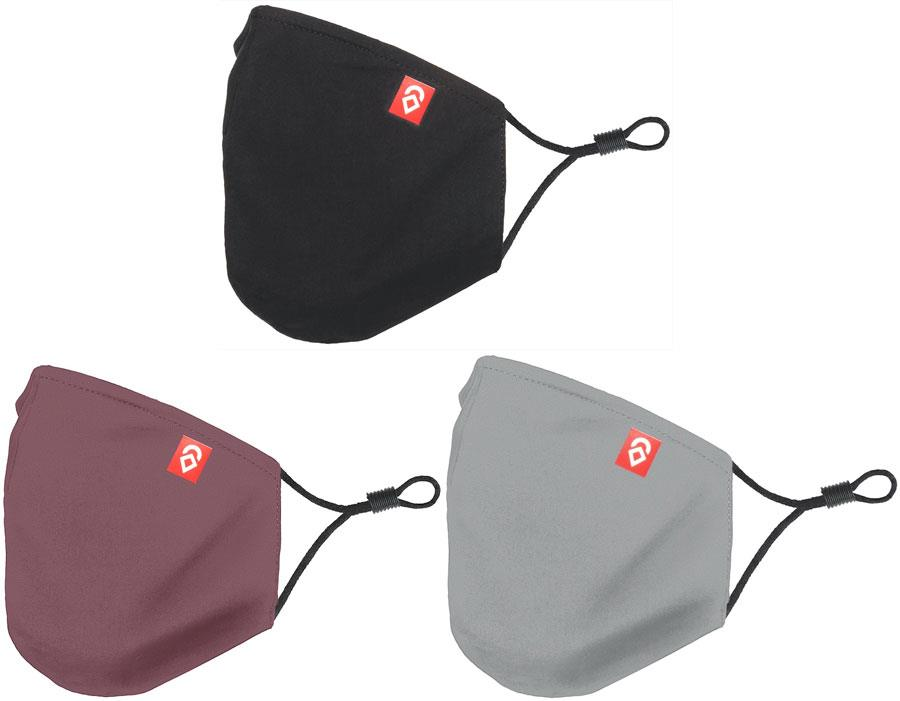 Airhole Adult Unisex Ergonomic 3 Pack Protective Reusable Face Mask, One Size Forest