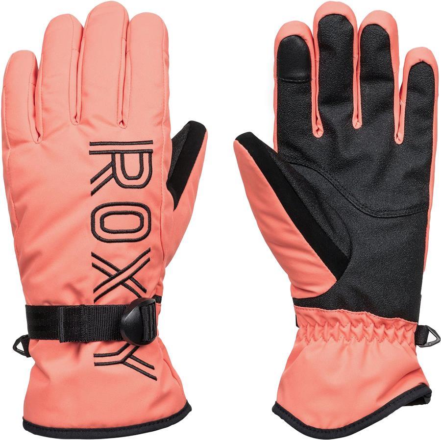 Roxy Womens Freshfield Women's Snowboard/Ski Gloves, S Fusion Coral