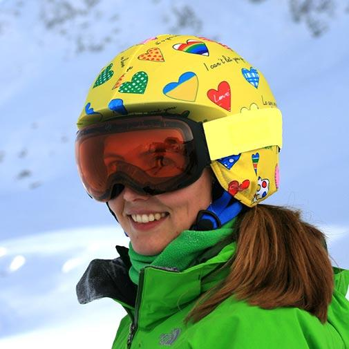 Coolcasc Printed Cool Ski/Snowboard Helmet Cover, One Size Amour