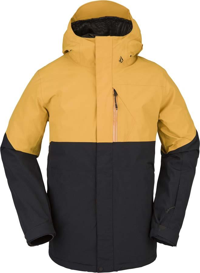 Volcom Adult Unisex L Insulated Gore-Tex Ski & Snowboard Jacket, Xl Resin Gold