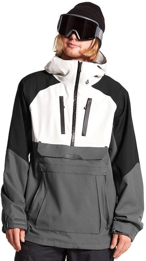 Volcom Brighton Pullover Ski & Snowboard Jacket, Xl Grey