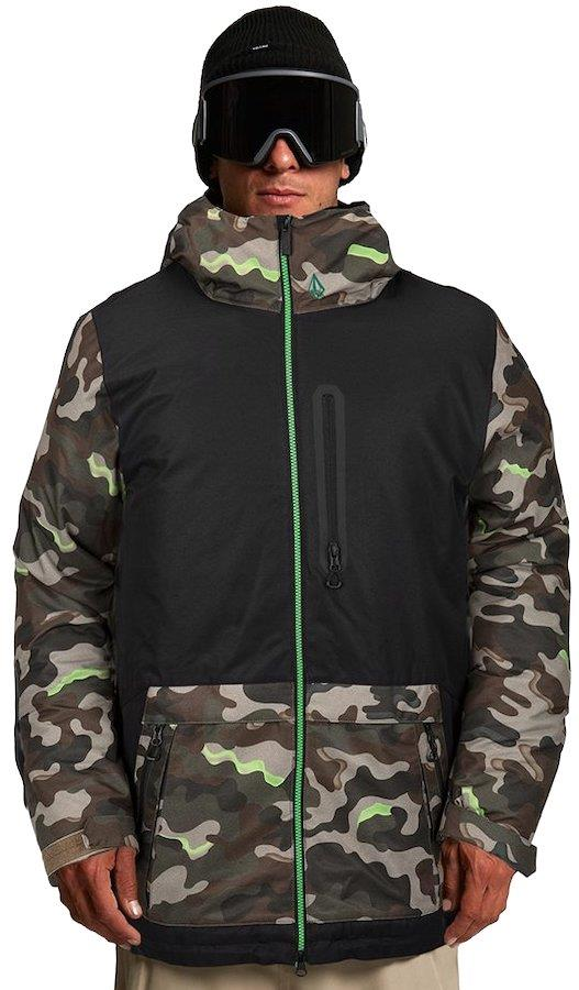 Volcom Deadly Stones Insulated Ski/Snowboard Jacket, S Army
