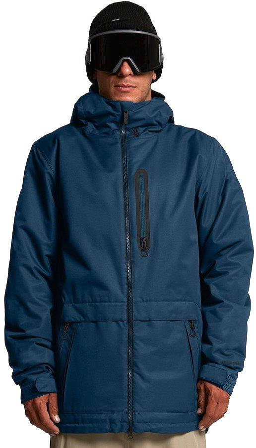 Volcom Deadly Stones Insulated Ski/Snowboard Jacket, L Blue