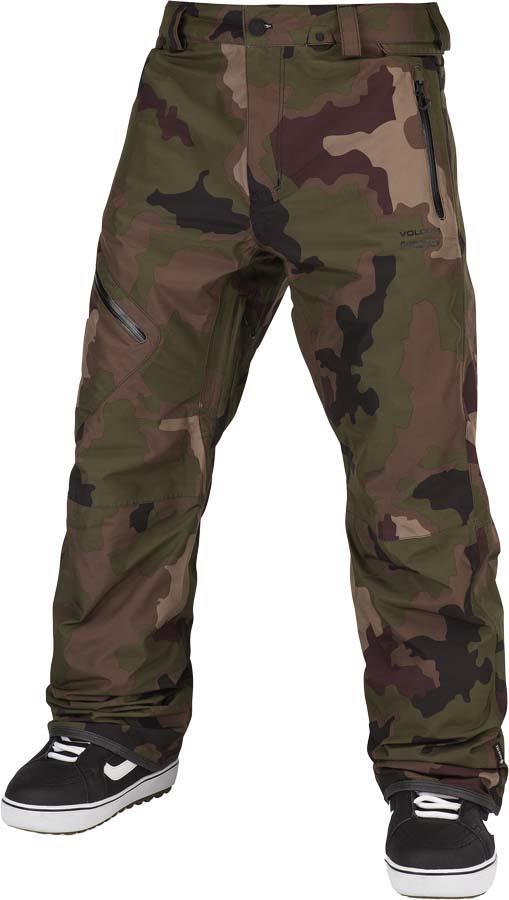 Volcom Adult Unisex L Gore-Tex Ski/Snowboard Pants, L Dark Camo