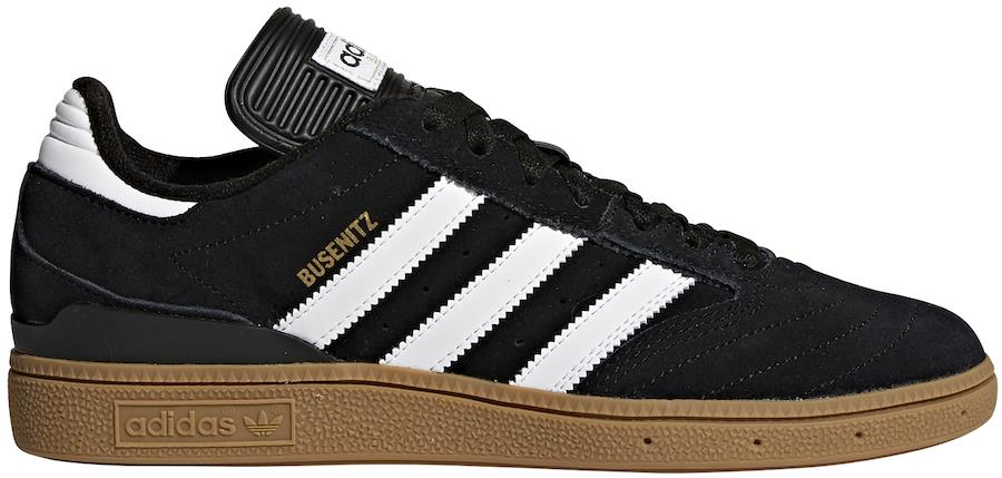 Clavijas sombrero Crónica  Adidas Busenitz Men's Trainers Skate Shoes, UK 7 Black/White/Gold