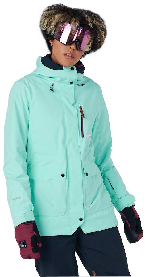 Planks All-Time Insulated Women's Ski/Snowboard Jacket, M Cool Teal