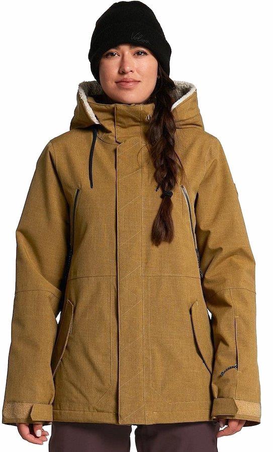Volcom Shrine Insulated Women's Ski/Snowboard Jacket, Uk 8 Khaki