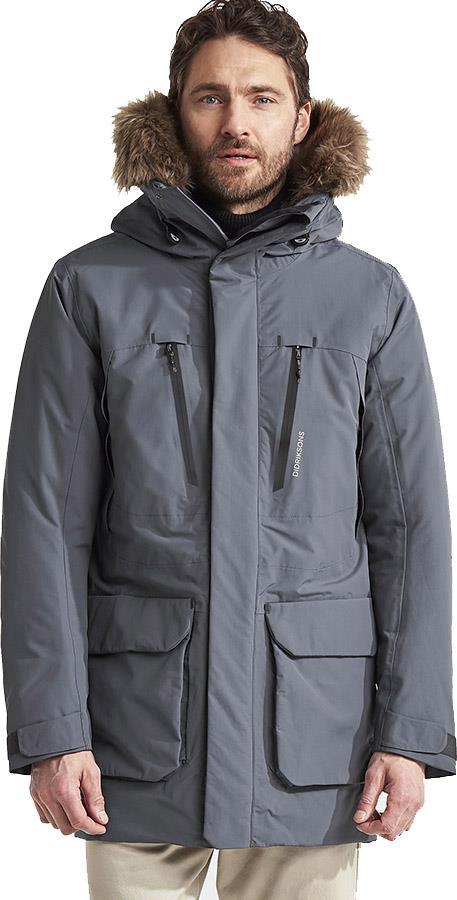 Didriksons Marco Waterproof Padded Parka Coat, L Gun Metal