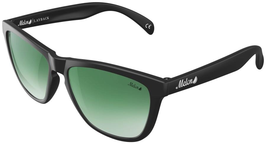 Melon Layback Green Gradient Polarized Sunglasses, M Jade