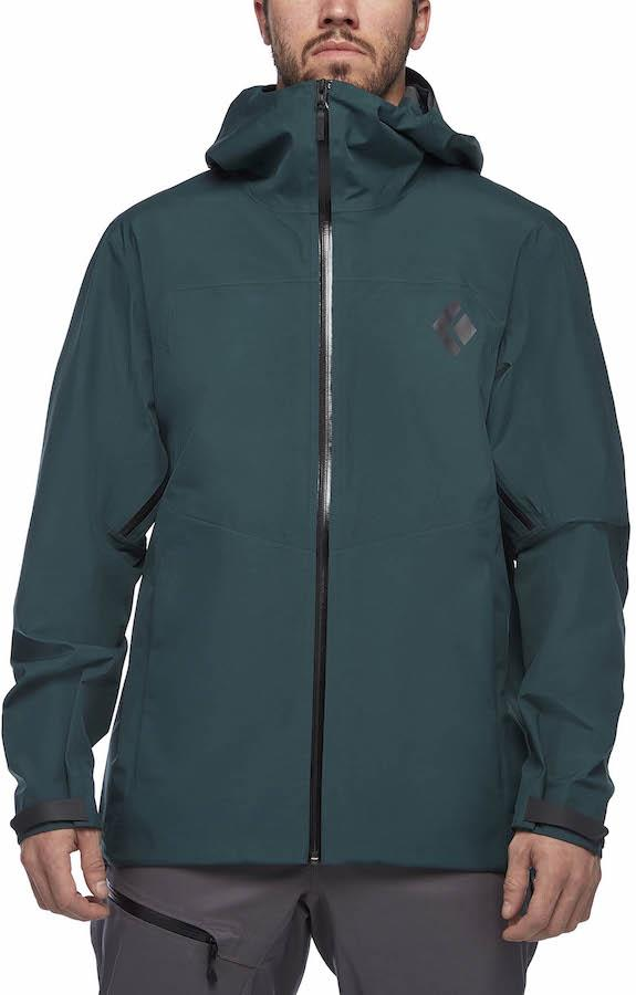 Black Diamond Liquid Point Shell Waterproof Jacket, S Deep Forest