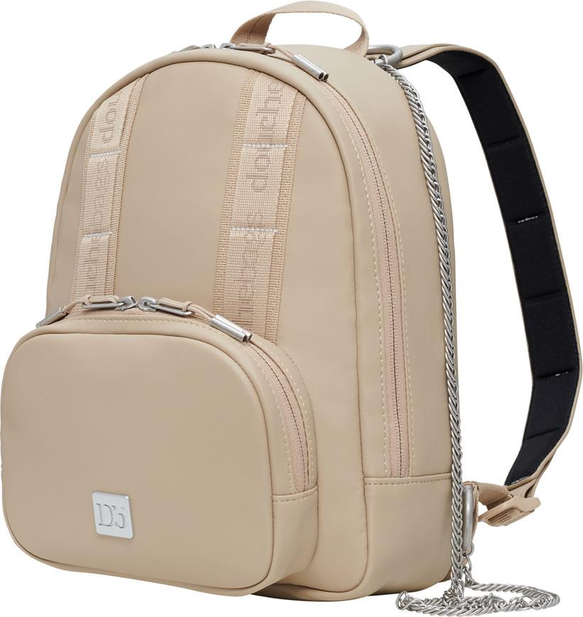 Douchebags The Petite PU Leather Mini Backpack, 8L Desert Khaki