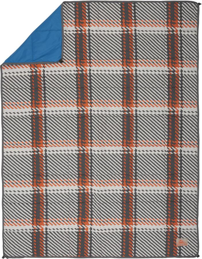 Kelty Bestie BFF Blanket Thermal Camping Comforter, Plaid/Blue