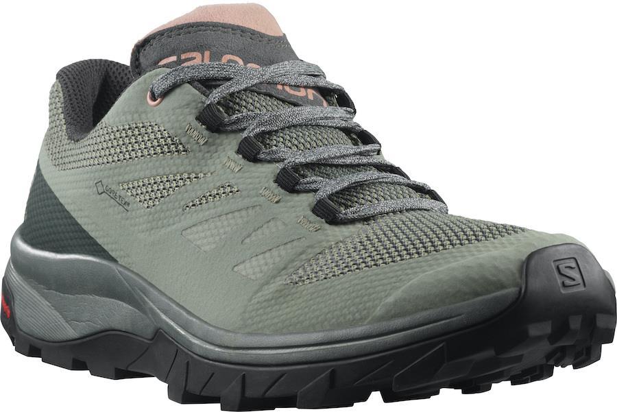 Salomon Outline Gore-Tex Women's Hiking Shoes, Uk 8 Shadow/Urban