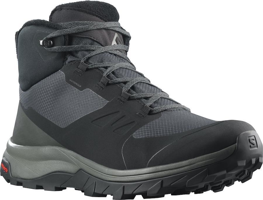 Salomon OUTsnap CSWP Waterproof Hiking Boots, UK 11 Black/Urban Chic