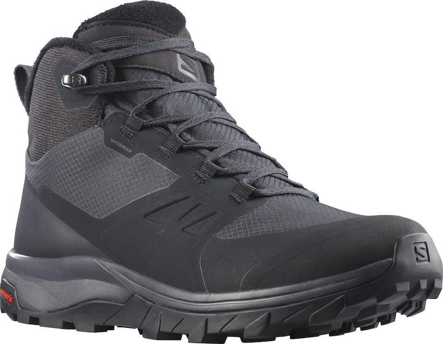 Salomon OUTsnap CSWP Women's Hiking Boots, UK 4 Black/Ebony/Black